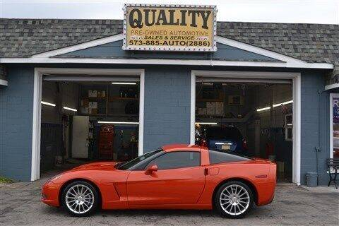 2012 Chevrolet Corvette for sale at Quality Pre-Owned Automotive in Cuba MO