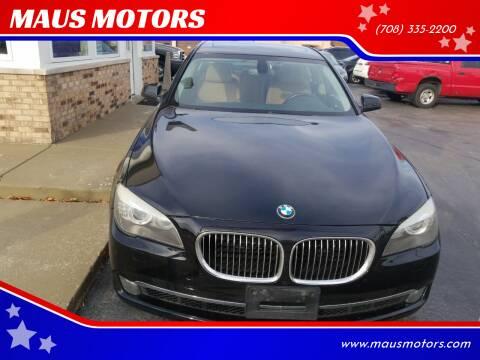 2011 BMW 7 Series for sale at MAUS MOTORS in Hazel Crest IL