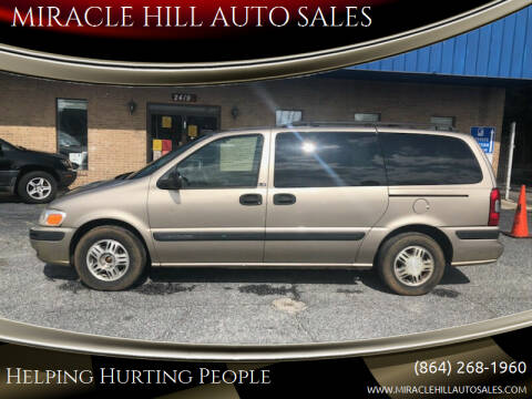 2002 Chevrolet Venture for sale at MIRACLE HILL AUTO SALES in Greenville SC