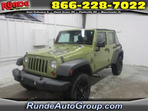 2013 Jeep Wrangler Unlimited for sale at Runde Chevrolet in East Dubuque IL