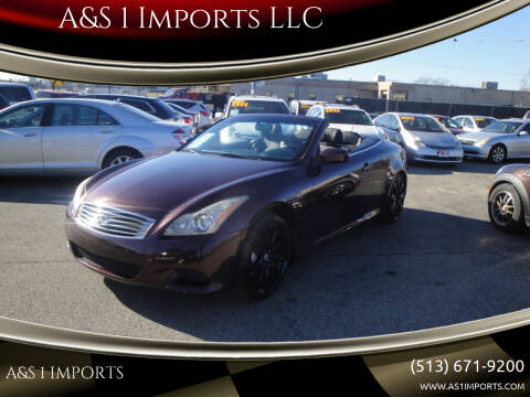 2010 Infiniti G37 Convertible for sale at A&S 1 Imports LLC in Cincinnati OH