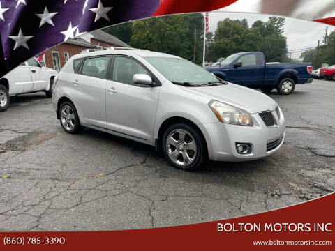 2009 Pontiac Vibe for sale at BOLTON MOTORS INC in Bolton CT
