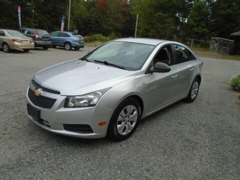 2012 Chevrolet Cruze for sale at Douglas Auto & Truck Sales in Douglas MA