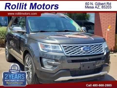 2016 Ford Explorer for sale at Rollit Motors in Mesa AZ