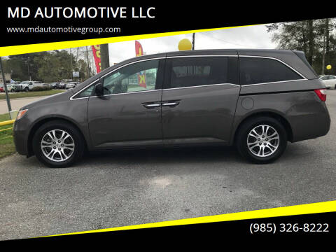2011 Honda Odyssey for sale at MD AUTOMOTIVE LLC in Slidell LA
