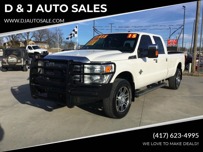 2015 Ford F-350 Super Duty for sale at D & J AUTO SALES in Joplin MO
