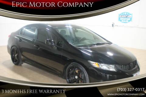 2013 Honda Civic for sale at Epic Motor Company in Chantilly VA