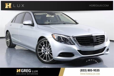 2015 Mercedes-Benz S-Class for sale at HGREG LUX EXCLUSIVE MOTORCARS in Pompano Beach FL