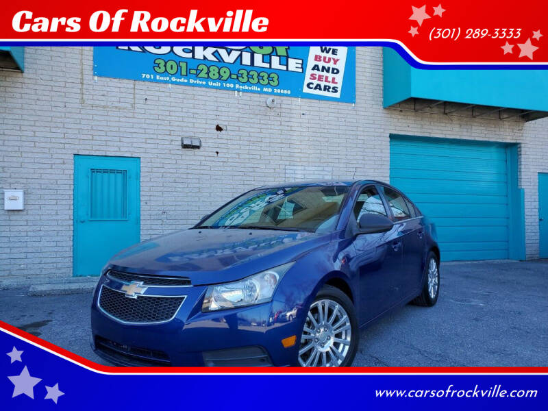 2012 Chevrolet Cruze for sale at Cars Of Rockville in Rockville MD