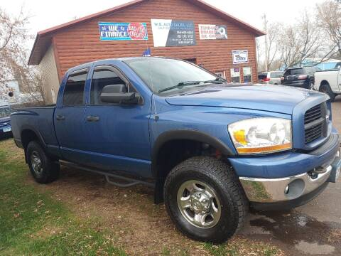 2006 Dodge Ram Pickup 2500 for sale at WB Auto Sales LLC in Barnum MN