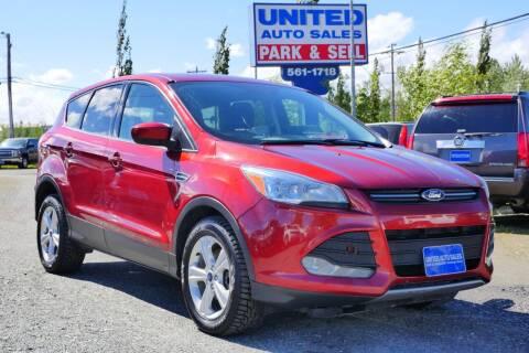 2015 Ford Escape for sale at United Auto Sales in Anchorage AK