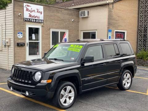 2012 Jeep Patriot for sale at Major Key Motors in Lebanon PA