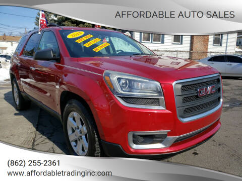 2014 GMC Acadia for sale at Affordable Auto Sales in Irvington NJ