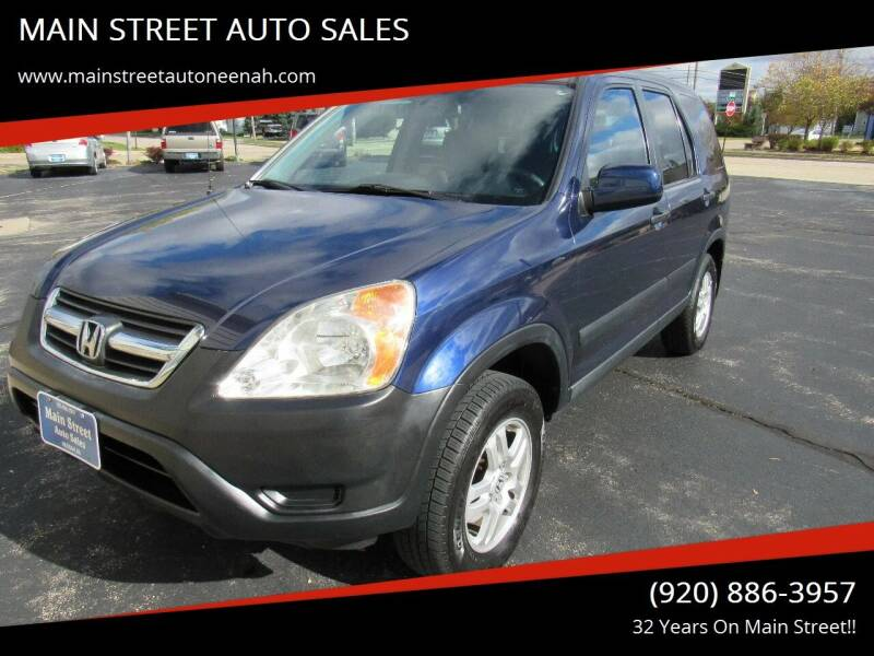2003 Honda CR-V for sale at MAIN STREET AUTO SALES in Neenah WI
