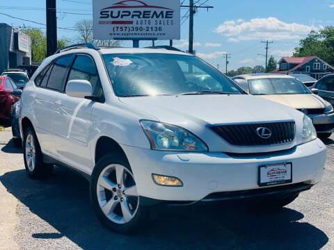 2004 Lexus RX 330 for sale at Supreme Auto Sales in Chesapeake VA