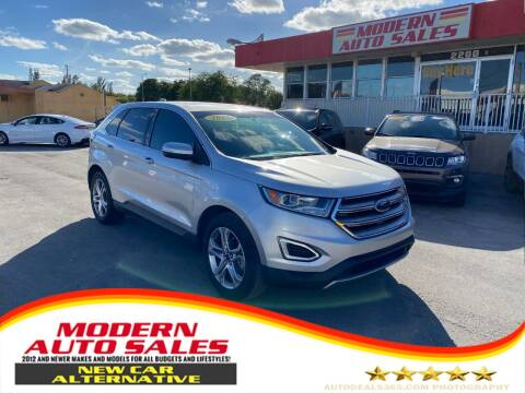 2017 Ford Edge for sale at Modern Auto Sales in Hollywood FL