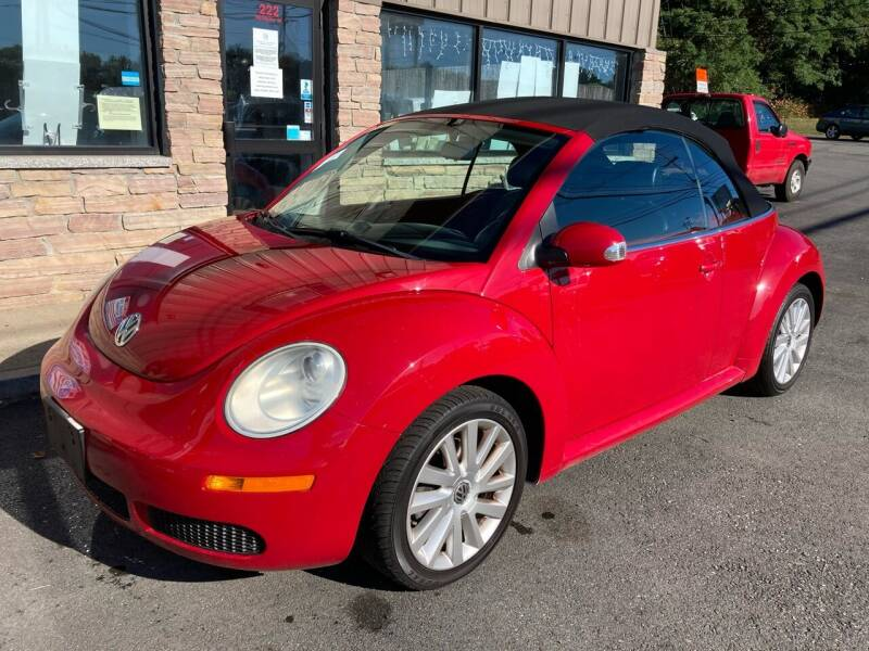 2008 Volkswagen New Beetle Convertible for sale at 222 Newbury Motors in Peabody MA