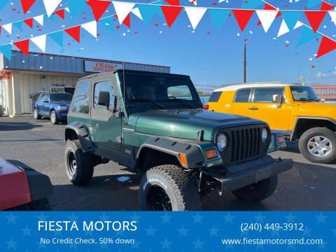1999 Jeep Wrangler for sale at FIESTA MOTORS in Hagerstown MD