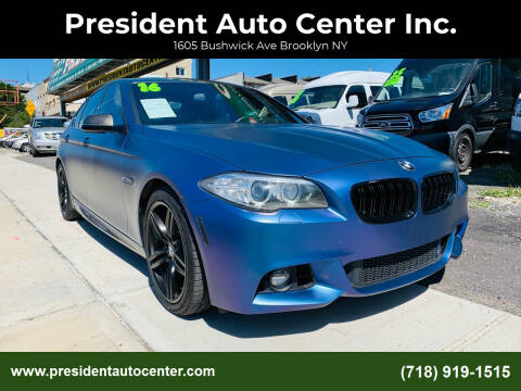 2016 BMW 5 Series for sale at President Auto Center Inc. in Brooklyn NY