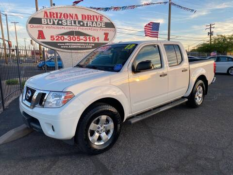 2013 Nissan Frontier for sale at Arizona Drive LLC in Tucson AZ