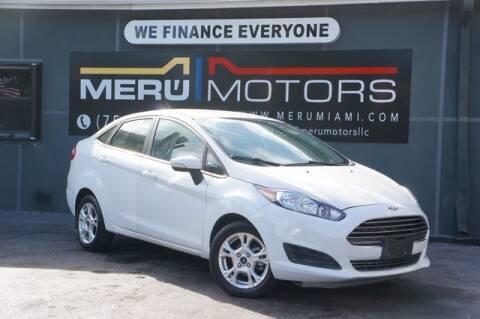 2016 Ford Fiesta for sale at Meru Motors in Hollywood FL