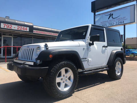2014 Jeep Wrangler for sale at NORRIS AUTO SALES in Oklahoma City OK