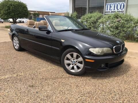 2006 BMW 3 Series for sale at TETCO AUTO SALES  / TETCO FUNDING in Dallas TX