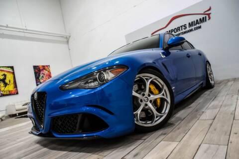 2017 Alfa Romeo Giulia Quadrifoglio for sale at AUTO IMPORTS MIAMI in Fort Lauderdale FL