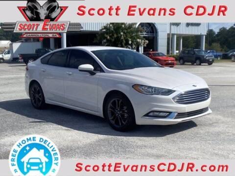 2018 Ford Fusion for sale at SCOTT EVANS CHRYSLER DODGE in Carrollton GA
