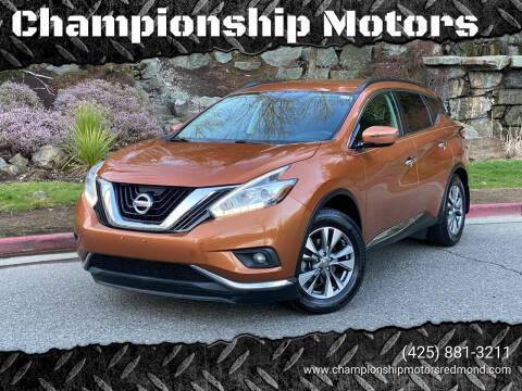 2015 Nissan Murano for sale at Championship Motors in Redmond WA