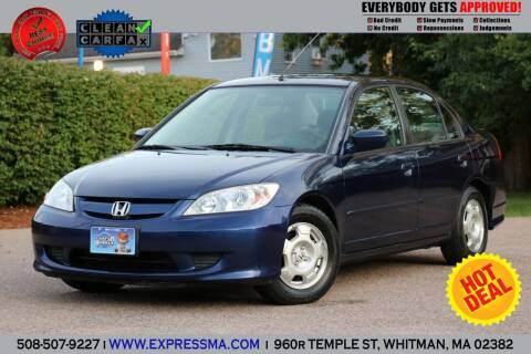 2005 Honda Civic for sale at Auto Sales Express in Whitman MA