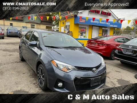2014 Toyota Corolla for sale at C & M Auto Sales in Detroit MI