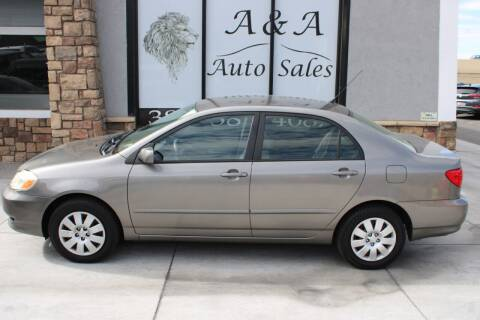 2004 Toyota Corolla for sale at A&A Auto Sales in Orem UT
