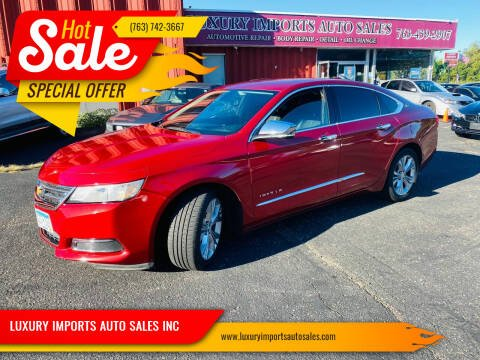 2015 Chevrolet Impala for sale at LUXURY IMPORTS AUTO SALES INC in North Branch MN