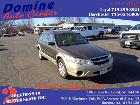 2008 Subaru Outback for sale at Domine Auto Center in Loyal WI