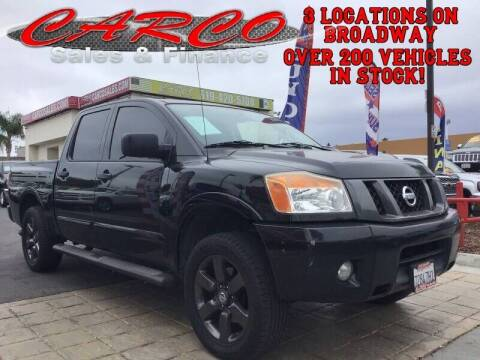 2012 Nissan Titan for sale at CARCO SALES & FINANCE #3 in Chula Vista CA