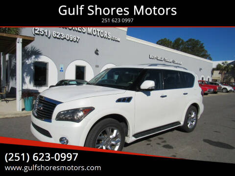 2012 Infiniti QX56 for sale at Gulf Shores Motors in Gulf Shores AL