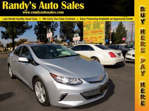 2016 Chevrolet Volt for sale at Randy's Auto Sales in Ontario CA