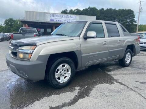 2002 Chevrolet Avalanche for sale at Greenbrier Auto Sales in Greenbrier AR