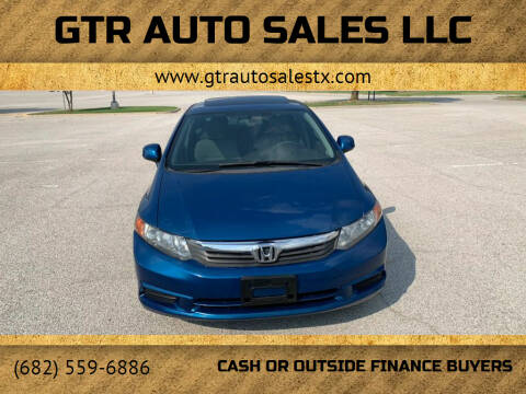 2012 Honda Civic for sale at GTR Auto Sales LLC in Haltom City TX