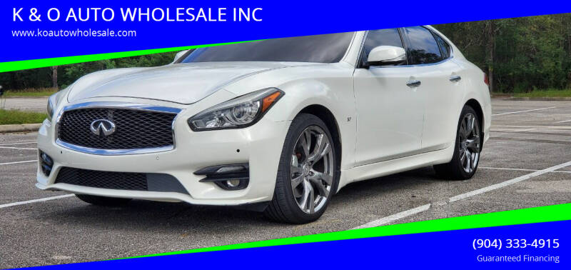 2012 Infiniti M37 for sale at K & O AUTO WHOLESALE INC in Jacksonville FL