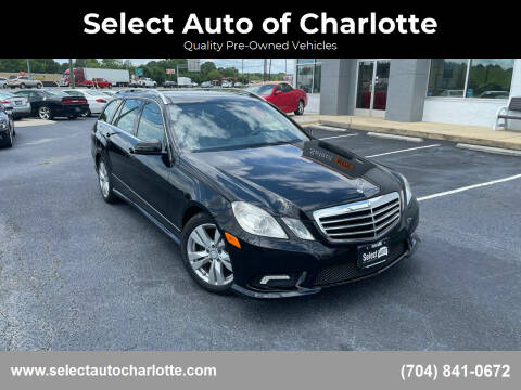 2011 Mercedes-Benz E-Class for sale at Select Auto of Charlotte in Matthews NC