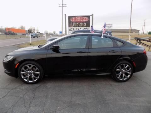 2016 Chrysler 200 for sale at MYLENBUSCH AUTO SOURCE in O` Fallon MO