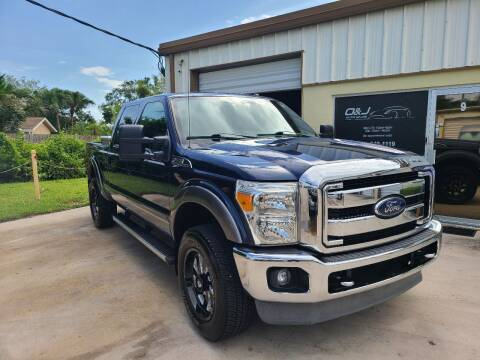 2013 Ford F-250 Super Duty for sale at O & J Auto Sales in Royal Palm Beach FL