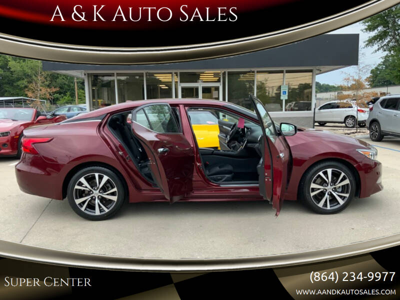 2017 Nissan Maxima for sale at A & K Auto Sales in Mauldin SC