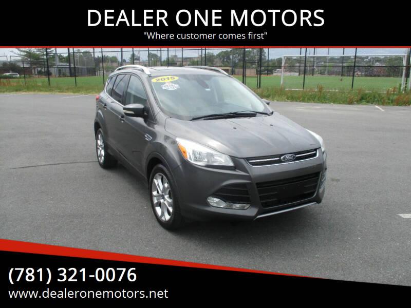 2015 Ford Escape for sale at DEALER ONE MOTORS in Malden MA