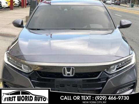 2019 Honda Accord for sale at First World Auto in Jamaica NY