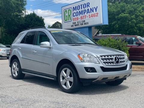 2011 Mercedes-Benz M-Class for sale at GR Motor Company in Garner NC