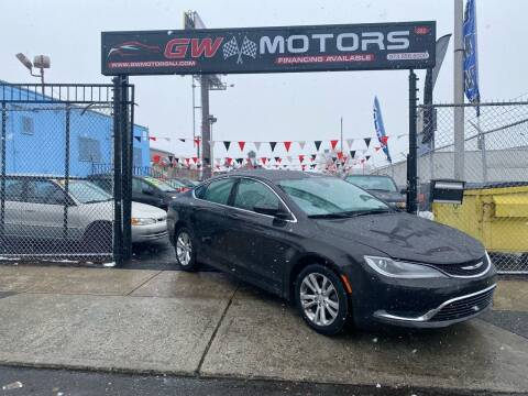 2015 Chrysler 200 for sale at GW MOTORS in Newark NJ