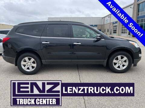 2012 Chevrolet Traverse for sale at LENZ TRUCK CENTER in Fond Du Lac WI